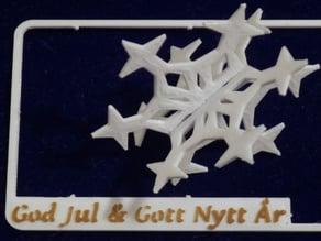 Snowflake kit card (customizer version)