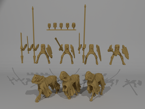 Undead Knight Miniatures Custamizable