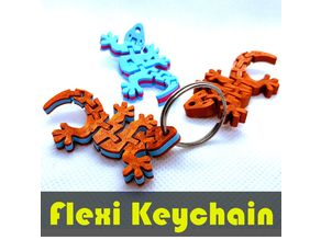 Flexi Articulated Gecko Keychain Dual Color