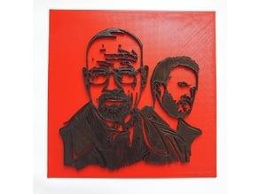 Walter White and Pinkman