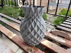 Twisted Pineapple vase