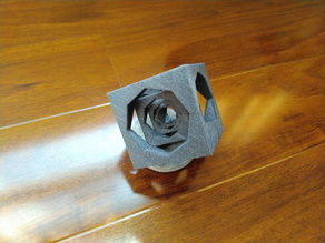 Drilled cube