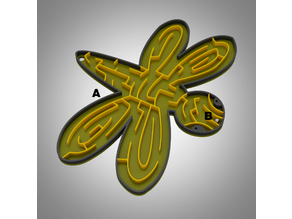 Dragonfly marble maze puzzle