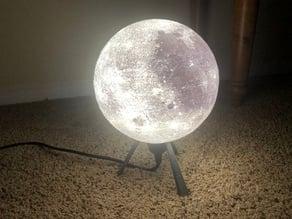 Designer Lithophane Moon Lamp