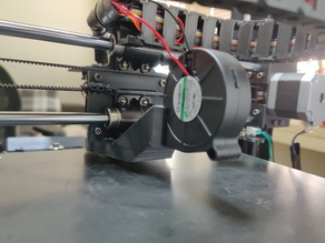 Anycubic I3 Mega Part Cooling Fan Duct + E3D V6 + BLTouch
