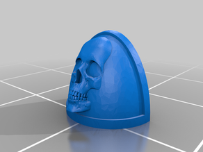 Skull Shoulderpad for Doom Legion Space Soldiers