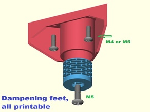 Dampening feet, all printable