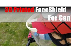 3D printed faceshield for cap/hat