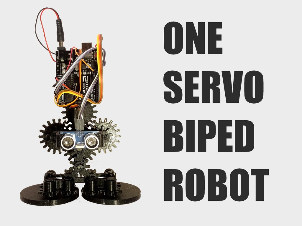 Cogsy the one servo omnidirectional biped robot