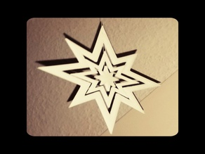 Weihnachtsstern III - X-Mas-Star ca. 15cm diameter