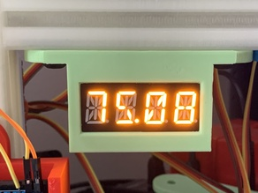 A four digit alphanumeric led display holder for an 8020 series 10 extrusion