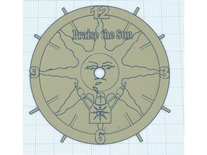 Praise the Sun Clock Face
