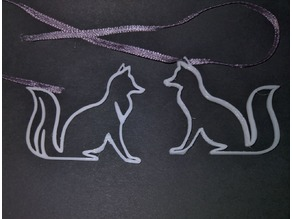 Fox outline jewellery