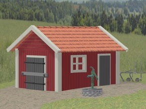 Old waterpump and well H0 1:87 scale