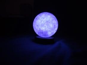 Moon night light base