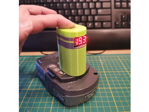 RYOBI One+ battery cover with volt meter v2.1