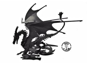 ROBOT DRAGON FLEXIBLE ARTICULATED PUZZLE 3D