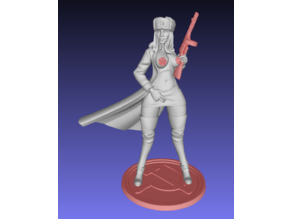 Russian style girl with and without gun, base removed - Remix