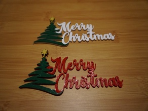 Merry Christmas Ornament - 3 Color