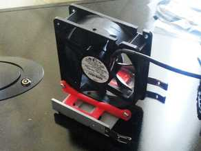 "3.5"" hard drive bay 120mm fan mount adapter"
