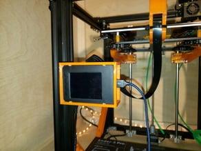 "3d printer mount for adafruit clear case w/2.8"" pitft display"