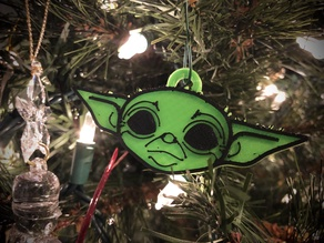 Baby Yoda Christmas Tree Ornament