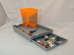 Magnetic Dice tower with box and storage