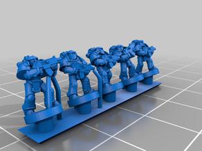 Galactic Crusaders - Boarding Armour Troops - 6-8mm