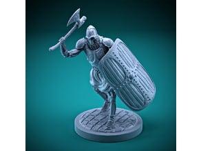 Skeleton - Heavy Infantry - Axe + Square Shield - Attack Pose
