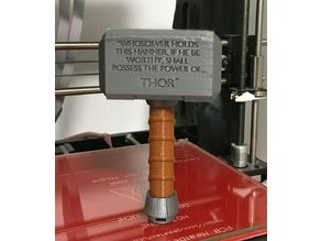 Baby's First Mjolnir (Rattle) - safer and no-glue version