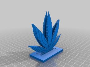 cell phone weed leaf