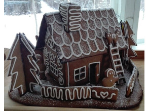 Simple Finnish gingerbread house template with dough recipe