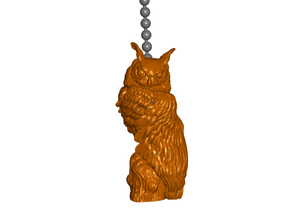 Realistic Owl Pull Ball Chain or Keychain Knob | Handle | Fob | Finials