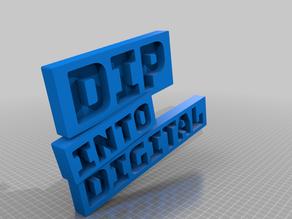 Dip into Digital Logo