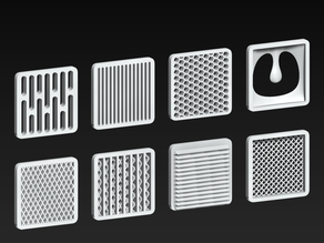 COVID-19 Mask Filter Grille