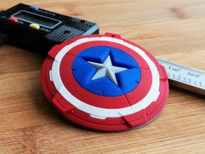 Captain America's shield keychain