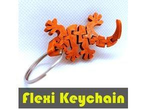 Flexi Articulated Gecko Keychain