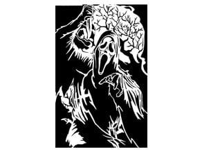 Scream stencil