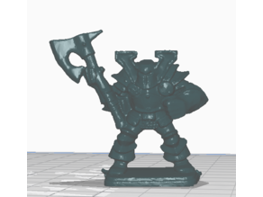 Monopose Chaos Warrior (Heroquest WQ)