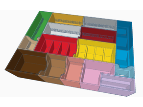 "20""x14""x4"" Catan Storage Box Dividers"