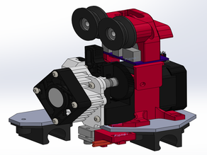 Rigidbot Titan Aero Mount + Filament Guide + Strain Relief