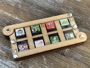 Lasercut Nintendo Switch 16x game card holder with magnetic latches