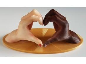 Heart hands (love hands)