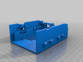 Einsy-Cover (Zaribo-style) with standard cable chain adapters for X-axis (10x10)  and E (20x10)