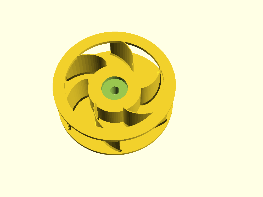 Customizable Impeller with Hub