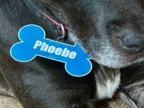 Bone Shaped Personalized Dog Tag