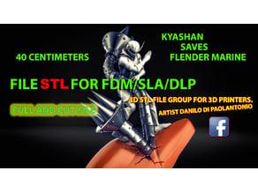 KYASHAN SAVES FLENDER MARINE - FILE STL FOR PRINTERS FDM - DLP - SLA 3D MODEL