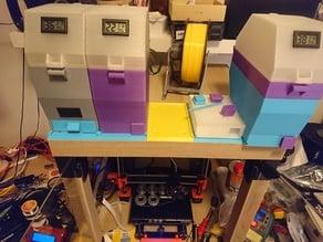 Ikea Lack enclosure five drybox in row no fillament buffer needed