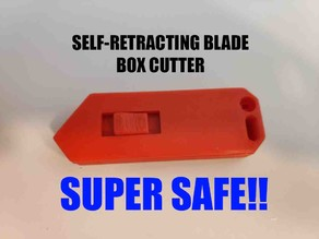 box cutter with self-retractable blade