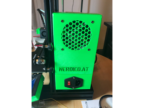 Ender 3 Pro Power Supply  Cover for 80mm Noctua